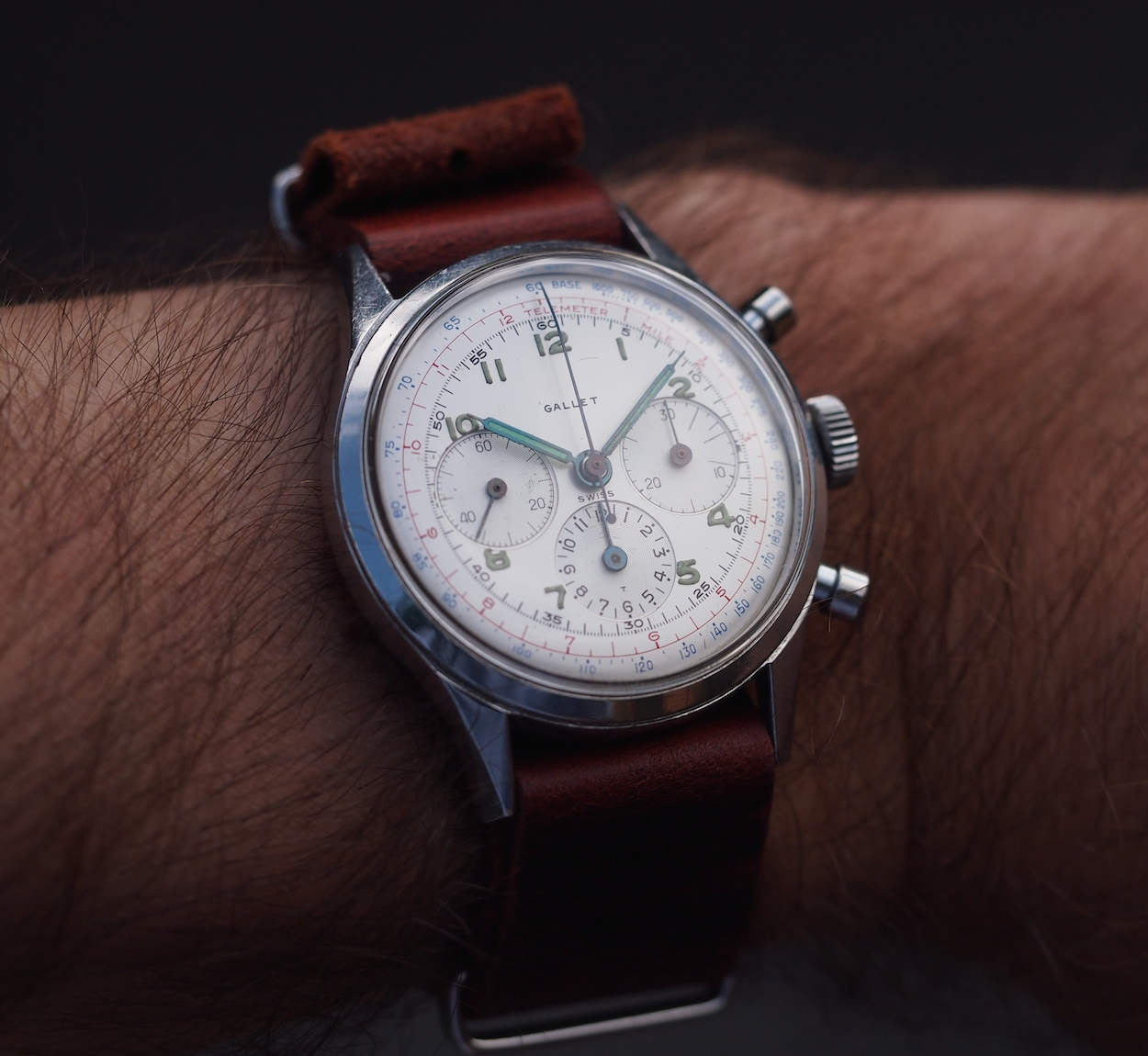 Gallet Multichron on the wrist