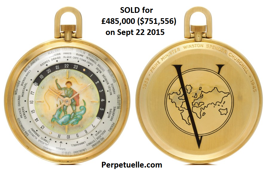 Winston Churchill World Time Louis Cottier Pocket Watch - Perpetuelle
