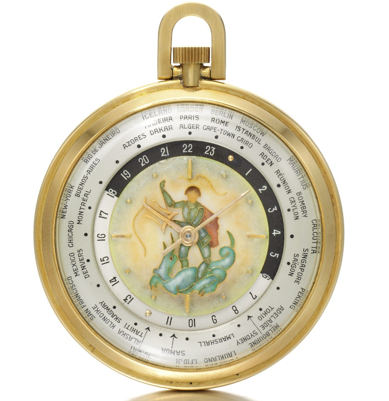 Winston Churchill World Time Pocket watch by Louis Cottier - Sothebys via Perpetuelle