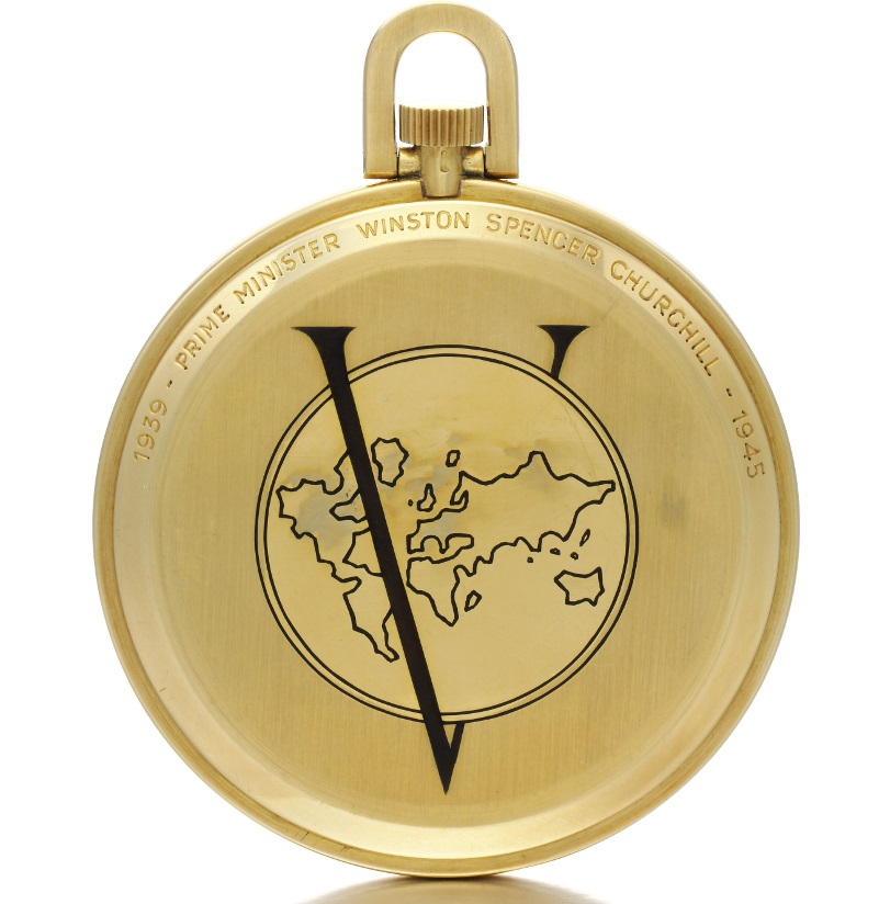 Winston Churchill World Time Pocket watch by Louis Cottier caseback - Sothebys via Perpetuelle